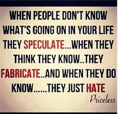 The world is full of haters without a clue ...