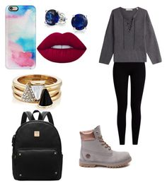 """Lazy Tuesday"" by maybeoliviaxox ❤ liked on Polyvore featuring Pepper & Mayne, Vince, Bling Jewelry, Timberland, Casetify, Lime Crime and Brixton"
