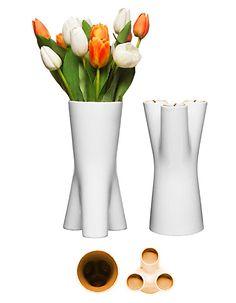 Upside-Down Vase Candlestick Holder from Sagaform