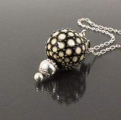 Loved Necklace with a lampwork glassbead in a by NadineGlerperlur, $100.00