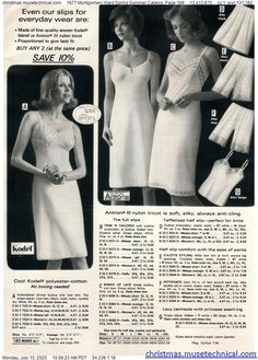 1977 Montgomery Ward Spring Summer Catalog, Page 188 - Christmas Catalogs & Holiday Wishbooks Montgomery Ward, Christmas Catalogs, Spring Summer, Lingerie, Holiday, Image, Photography Of Women, Fotografia, Tricot