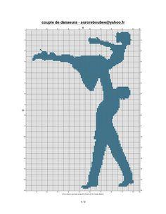 0 point de croix danseurs dancers like dirty dancing - cross stitch