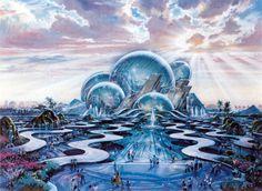 """Oceana"" - hub and icon for the never realized DisneySea theme park / Port Disney Resort in Long Beach, California."
