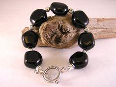 Black Onyx Bracelet, Chunky Bracelet, Stone Bracelet, Black Bracelet, Stone Bead Bracelet, Women Bracelet, Bracelet Black Onyx