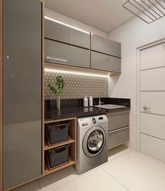 functional and stylish laundry room design ideas to inspire 41 Kitchen Interior, House Design, Room Design, Home, Bedroom Design, Stylish Laundry Room, New Homes, Room Remodeling, Bathroom Design