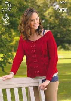 Sweater and Cardigan in King Cole Big Value Aran - 3600. Discover more Patterns…