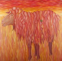 Trébol. Ólero sobre lienzo. 116 x 116 cm.