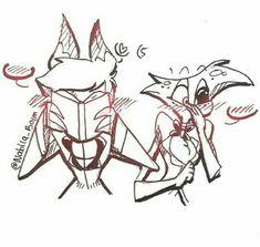 ~La Hija de Radio Demon~ (Alastor x Angel) Cute Images, Cute Pictures, Angel Demon, Yuri, Hazbin Hotel Angel Dust, Steven Universe Movie, Banana Bus Squad, Alastor Hazbin Hotel, Hotel Trivago
