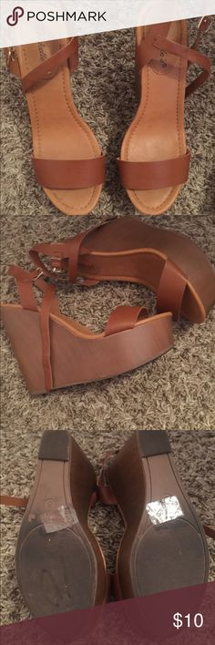 Brown wedges Very good condition Shoes Wedges