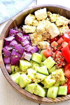 Tomato, Cucumber, and Feta Saladcountryliving