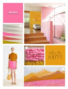 Todays palette inspiration is a colour match made in heaven! Fuscia pink paired with yellow ochre packs a serious punch .... mix in ...