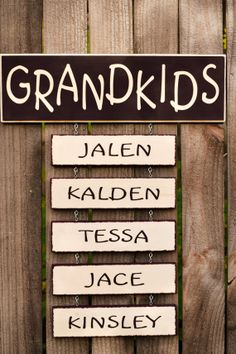 Grandkids Sign- Personalized Gift on Etsy, $12.50
