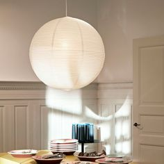 The Rice Paper Lamp Shade from Hay is a traditional paper shade constructed from rice paper, bamboo and iron. Shop Hay lighting at Utility Design today - Original Design. Lamp, Lantern Ceiling Lights, Ceiling Light Shades, Hay Lamps, Hay Lights, Hay Design, Paper Light, Paper Lantern Lights, Paper Lampshade
