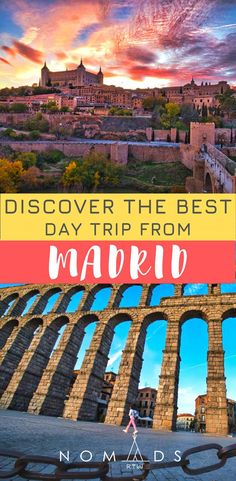 Planning a trip to Madrid ?Discover the best day trip from Madrid. Find how to get there, things to see and do, where to eat and stay and more. Europe Destinations, Europe Travel Tips, Spain Travel, Travel Advice, Travel Guides, Mexico Travel, One Day Trip, Day Trips, Madrid Travel