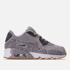 Nike Girls' Preschool Air Max 90 SE Leather Running Shoes