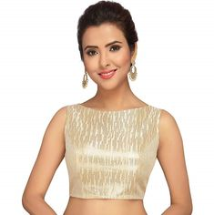 505258e858ef9f Golden Sleeveless Readymade Saree Blouse!!!!  trendbux  blouse   blousedesigns  blouseonline  blouses  blousestyle