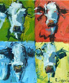 Modern Abstract Cow by Robert Joyner.