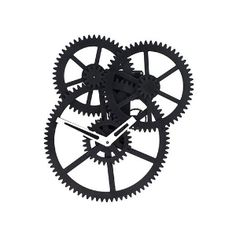 This industrial gear clock is both an impressive display, and a grandiose way to tell the time. Watch as precision gears interlock to turn the bold minute and hour hands. Uses 2 D batteries.;Material: Plastic Hallway Mirror, Gear Clock, Mechanical Art, Wall Clock Design, Telling Time, Gears, Clock Ideas, Industrial, Hands