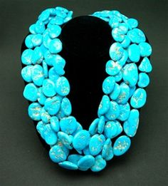 Sally Churchill Private Label Turquoise and 22K Yellow Gold Torsade Necklace
