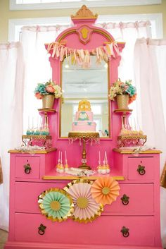 You have to see this princess birthday party! See more party ideas at CatchMyParty.com!
