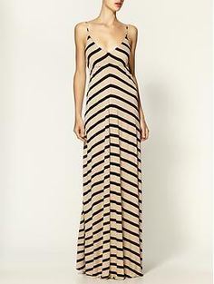 Eight Sixty Striped Maxi Dress