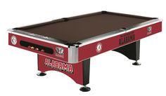 University of Alabama 8' Pool Table