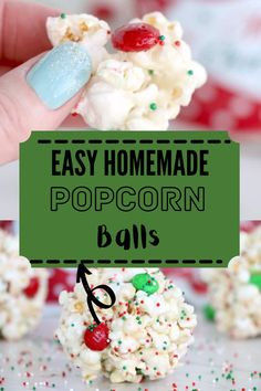 Easy Homemade Popcorn Balls are a perfect sweet, delicious treat for any occasion. This old-fashioned recipe is sure to put a smile on everyone's face! #popcornballs #easypopcornballs Popcorn Balls, Incredible Recipes, Holiday Recipes, Party Recipes, Barbecue Recipes, Pinterest Recipes, Air Fryer Recipes, Homemade Popcorn, Fun Desserts