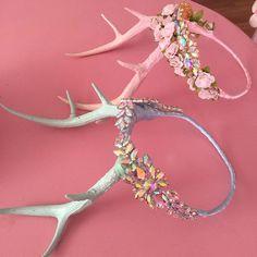 Packing up orders today. Still a few crystal antler crowns left! Kellyeden.bigcartel.com