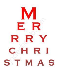 Eye Chart Christmas Printable 8x10 Home Decor Print by Jaderbomb, $5.00
