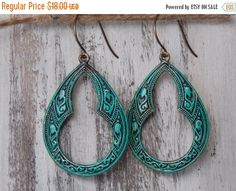 These pear shaped Moroccan earrings are the perfect accessory for any outfit. Pair them with your favorite sweater and scarf or a black velvet dress. They are so versatile,... ➡️ https://www.etsy.com/listing/499092521/sale-bohemian-teardrop-earrings-patina?utm_campaign=products&utm_content=0fde46205d0941ad98cc356895d3f167&utm_medium=pinterest&utm_source=sellertools