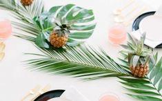 Tropical Dinner Part Tropical Party Decorations, Wedding Table Decorations, Luau Party, Cute Diys, Hawaii Wedding, Decoupage, Balloons, Birthday, Pretty