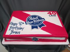 cba656957e349f Pabst Blue Ribbon Birthday Cake  sugarshackscia
