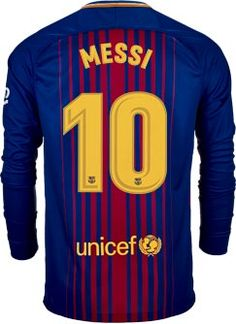 Nike Lionel Messi Barcelona L S Home Jersey 2017-18 - SoccerPro.com f6e77d99c04b3