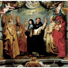 Peter Paul Rubens -;Defenders of the Eucharist - St Thomas Aquinas in the centre