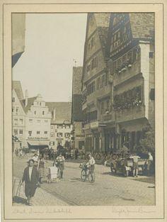 Dinkelsbuhl street view Bavaria Germany antique art photo by Dwight James Baum