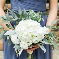 These green  white bouquets were a dream to create.  Photo by @mary_margaret_smith.