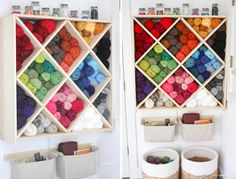 yarn storage system - this needs to happen in my house