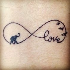 Infinity Symbol Tattoo On Back Of Neck photo - 1