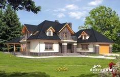 Wiktor - Dobre Domy Flak & Abramowicz Design Case, Home Fashion, Planer, House Plans, Villa, House Design, Cabin, Mansions, House Styles