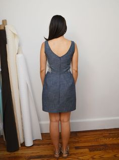 Elisalex dress (By Hand London) with straight skirt by Workroom Social Simple Dress Pattern, Dress Patterns, Sewing Patterns, Easy Dress, Simple Dresses, Sewing Ideas, Sewing Projects, By Hand London