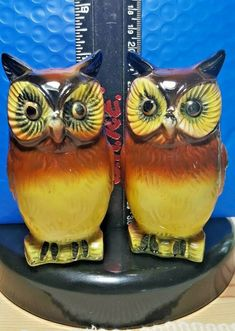 VINTAGE OWL SALT & PEPPER SHAKERS JAPAN Salt N Pepper, Salt Pepper Shakers, Vintage Owl, Paint Chips, Stuffed Peppers, Japan, Mugs, Tableware, Ebay