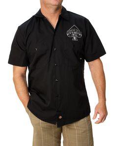 Outlaw Threadz Men's Spade Dickies Button Down Shirt