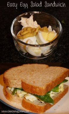 Instead of grabbing fast food for lunch, here's a healthy alternative.  This is my easy Egg Salad Sandwich Recipe.