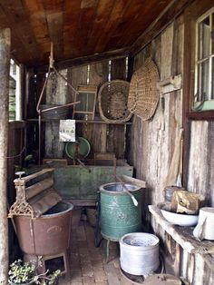 Retro photograph of an old fashion laundry with equipment Primitive Laundry Rooms, Primitive Kitchen, Primitive Country Bedrooms, Antique Kitchen Decor, Primitive Homes, Primitive Antiques, Country Primitive, Vintage Kitchen, Rustic Italian