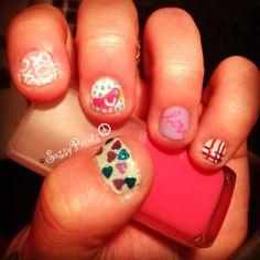 Short #nails #nailart