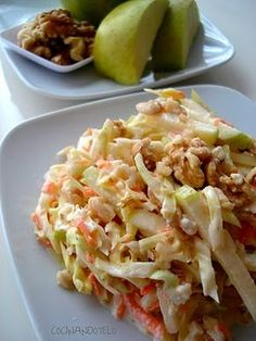Cocina – Recetas y Consejos Salad Recipes, Diet Recipes, Cooking Recipes, Healthy Recipes, My Favorite Food, Favorite Recipes, Coleslaw, Appetizer Salads, Savoury Dishes