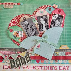 Happy Valentine's Day scrapbook layout by Marie Lottermoser for Crate Paper