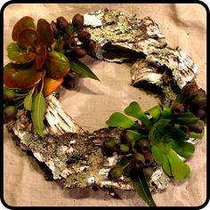 Birch Bark Bohemian Wreath