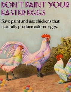 Don't Paint Your Easter Eggs