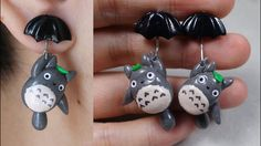 Totoro Earrings Polymer Clay Tutorial | My Neighbor Totoro - YouTube